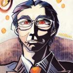 「岩清水帯刀」コミック画練習(メイキング)